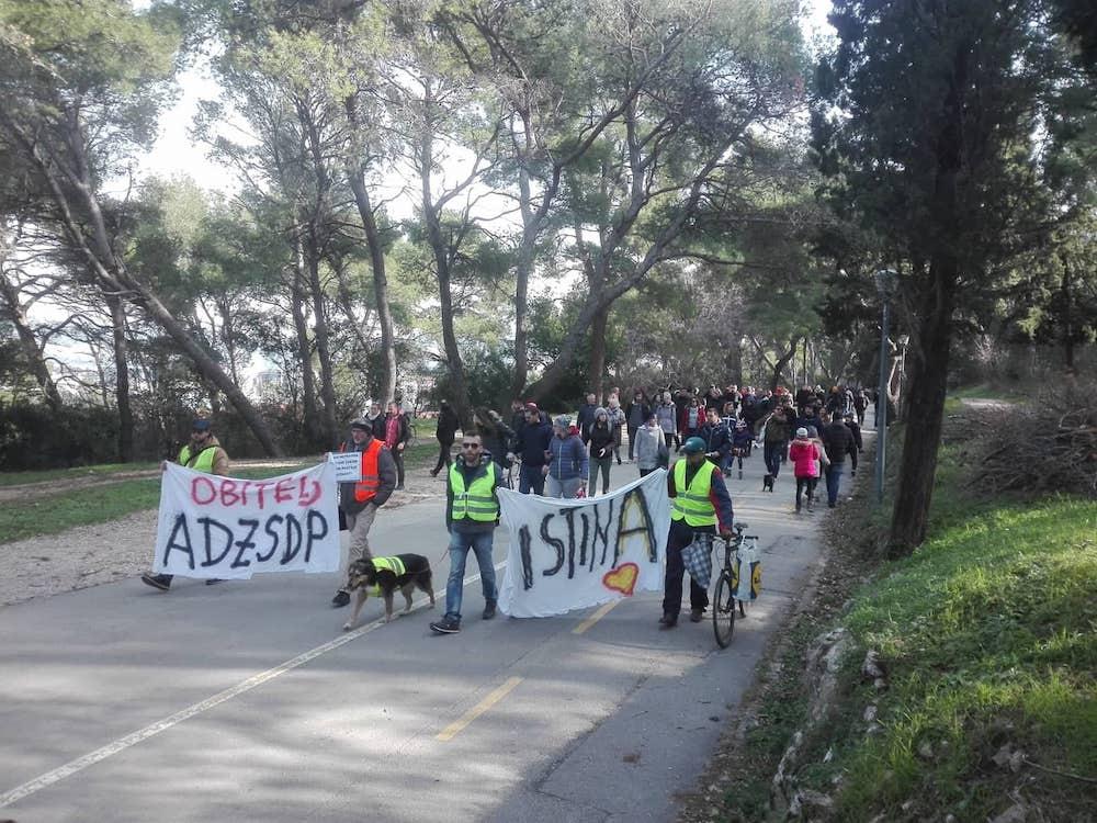 Prosvjed na Marjanu