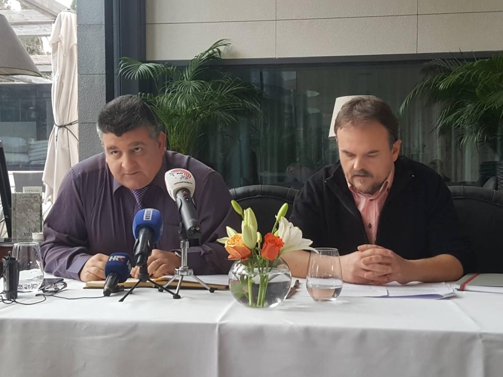 Konferencija za medije inicijative 'Bit će bili što su bili' u hotelu Park