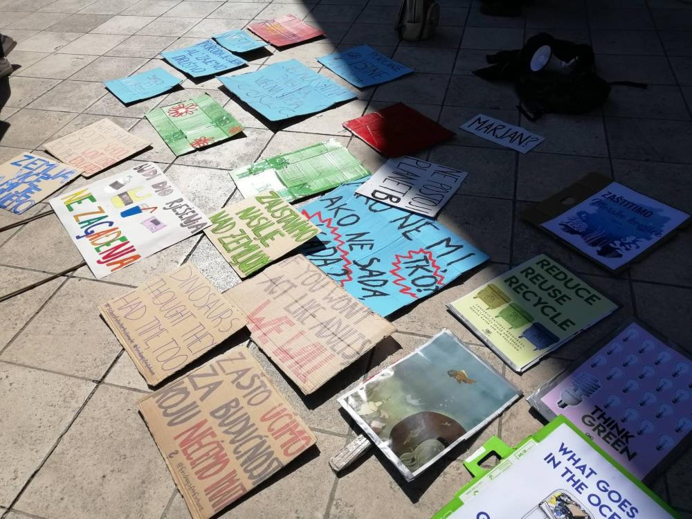 Prosvjed ispred HNK Split