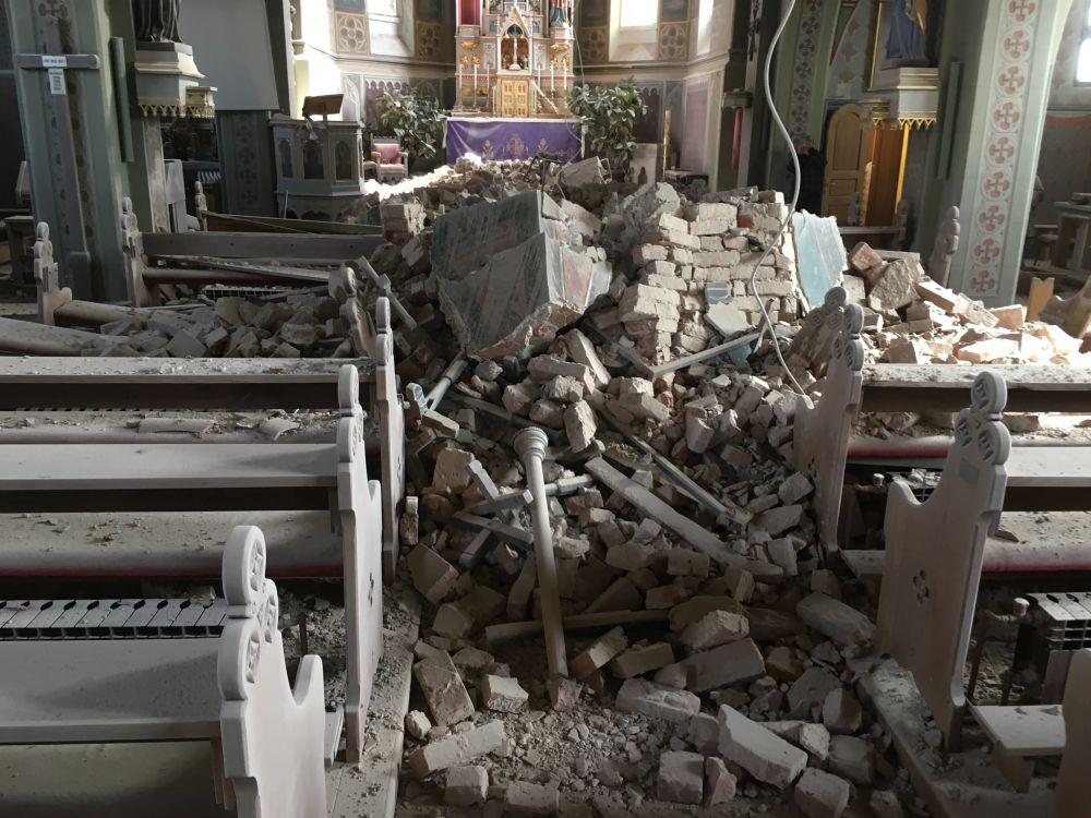 Povijest Se Ponavlja Potres Razorio Crkvu Rođenja Blazene Djevice Marije Dalmatinski Portal