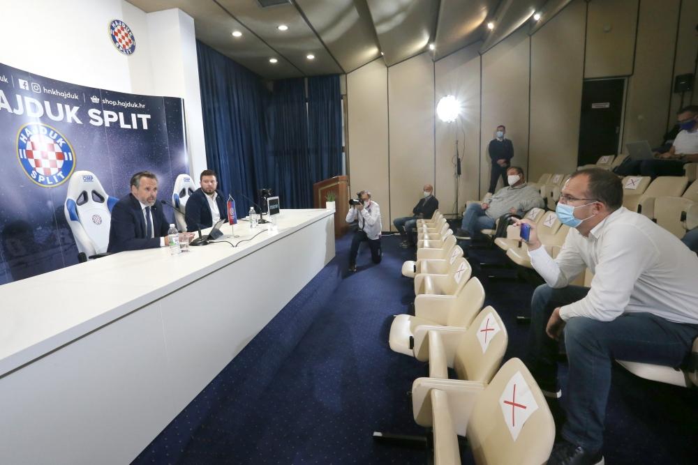 Konferencija za novinare na Poljudu   Foto: Veljko Martinović