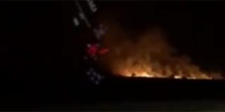 Požar kod odmorišta Jadova