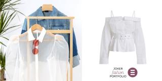 JOKER FASHION PORTFOLIO Zaigrano lice klasične bijele bluze