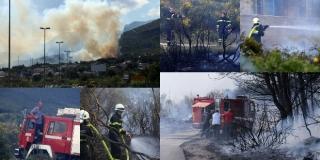 VIDEO: Planulo u Kaštel Sućurcu, vatra je došla do kuća