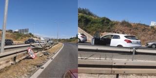 Prometna nesreća na izlazu iz Splita: Udario u ogradu i 'zavrtio' se na cesti