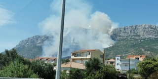 GORI KOZJAK Požar šume iznad Kaštel Sućurca