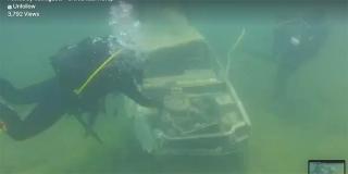 VJEŽBA NA PERUĆI Ronioci JVP Split izvukli Renault koji je upao u jezero