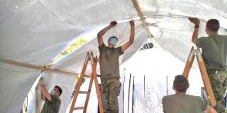 Hrvatska vojska izgradila ukupno 51 šator kod zdravstvenih ustanova