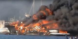 Kod Cresa u požaru broda poginuo čovjek, gorio auto u Lovranu: 'Događaji su povezani'