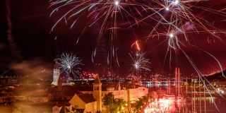 FOTOGALERIJA Torcidin rođendan spektakularnim vatrometom proslavljen i u Trogiru