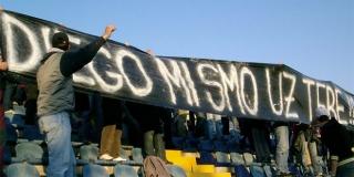 DIEGO, MI SMO UZ TEBE Ovo je poruka s utakmice Varteks - Hajduk...