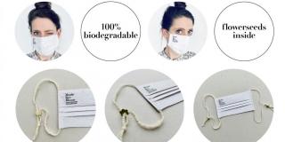 Domišljata dizajnerica napravila 100 posto biorazgradivu zaštitnu masku