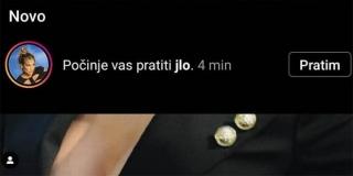 J. Lo zapratila Zagrepčanina na Instagramu