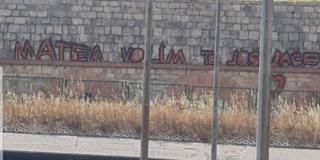 KAKAV BILLBOARD Na Dioklecijanovom akveduktu osvanula ljubavna poruka