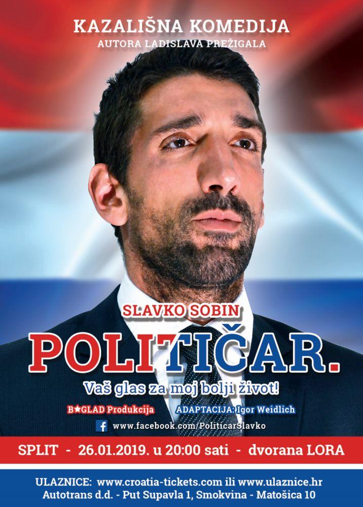 Političar: Komedija Slavka Sobina 26. siječnja u Lori