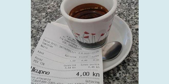 U Pirovcu na Rivi kava samo četiri kune!