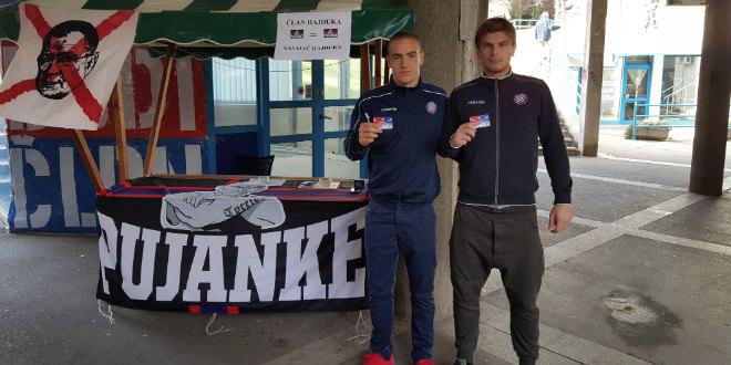 Akcija na Pujankama: Mladi igrači 'bijelih' Karamarko i Franić se učlanili u Hajduk