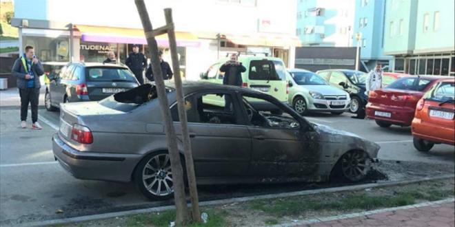 Opet izgorio automobil: Noćas oko 4.30 izbio je požar na BMW-u na Žnjanu