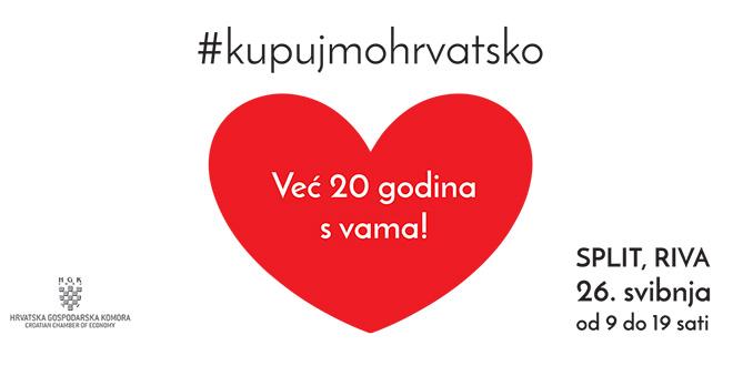Akcija 'Kupujmo hrvatsko' 26. svibnja u Splitu