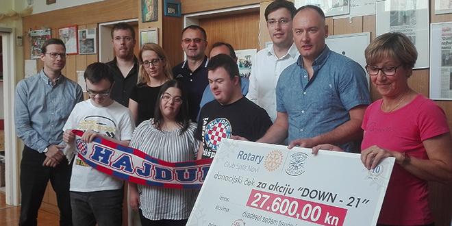 Rotary klub Split Novi donirao 27.600 kuna Udruzi Down 21, a sada planiraju akciju e-učionice za KBC Split