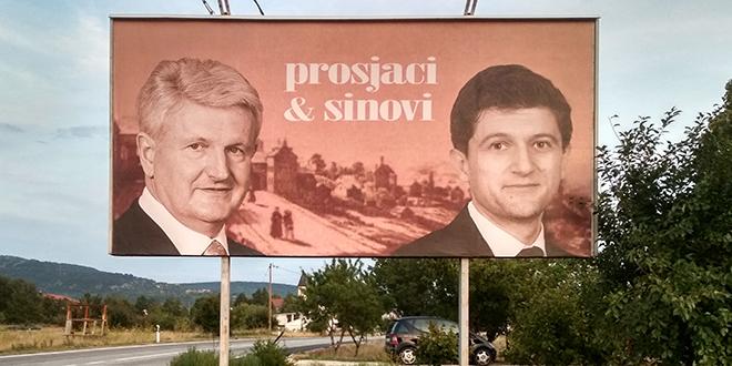 Na jumbo plakatu u Cisti Provo osvanuli Todorić i Marić