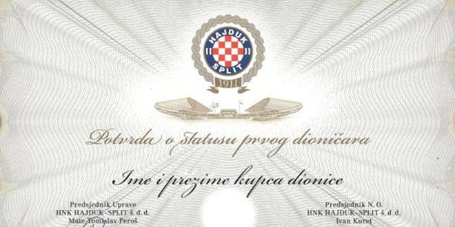 SVAKA ČAST: Završena je aukcija, Hajdukova dionica prodana za čak 9500 kuna!