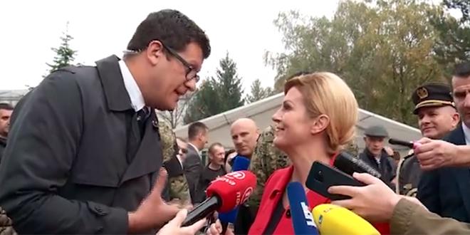 VIDEO O KOJEMU SE PRIČA: Pitali smo novinara kojemu je Kolinda zgrabila mikrofon je li to ikada doživio