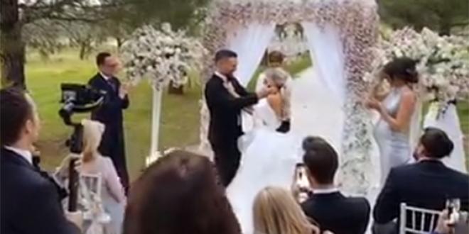 VADI KUME KEŠ: Maja Šuput se udala u vjenčanici koju joj je Grubnić dizajnirao