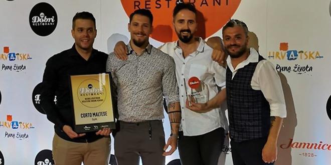 Splitski restorani Corto Maltese i Bokeria Kitchen & Wine osvojili nagrade 'Dobri restorani'