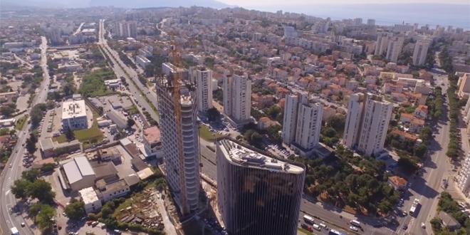 VIDEO Pogledajte kako izgleda pogled s buduće najviše zgrade u Hrvatskoj