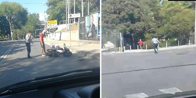 UŽAS U SPLITU: Motorom oborili policajca na izlazu iz Marjanskog tunela, jedan je još u bijegu