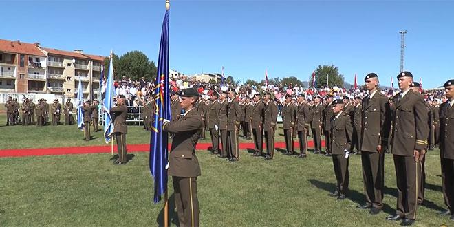 VIDEO: Pogledajte svečanu prisegu 17. naraštaja kadeta Hrvatske vojske u Kninu
