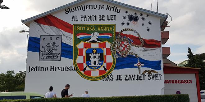 FOTOGALERIJA Legendarna postrojba dobila mural u Imotskom