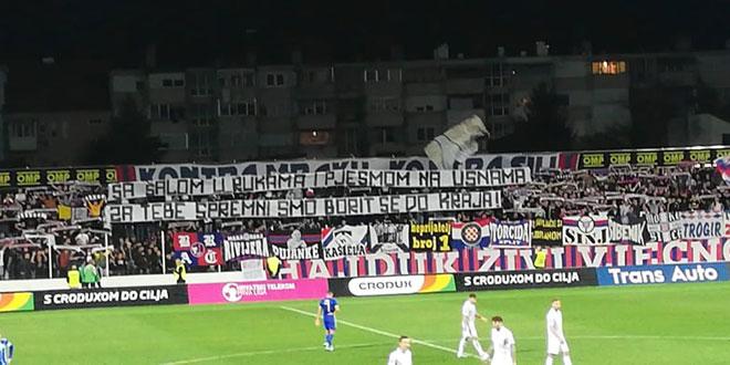 Torcida u Kranjčevićevoj istaknula poruku