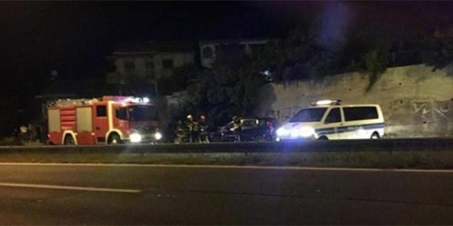 Prometna nesreća na brzoj cesti u Kaštelima, osjetio se plin iz vozila