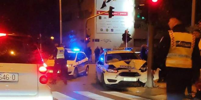 NOĆAS U SPLITU Policijsko auto se zabilo u stup, žena otrčala pomoći i zaboravila potegnuti ručnu. Njezin BMW se zabio u zid