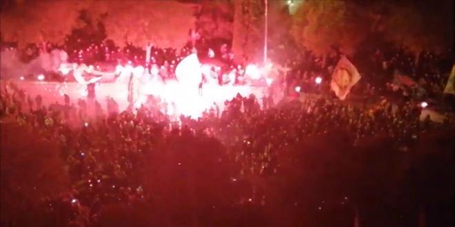 VIDEO: Torcida priredila veličanstvenu bakljadu u čast Vukovara