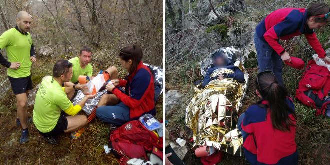 NESREĆA NA MOSORU Sudionik utrke od izvora Žrnovnice do Štamparije slomio nogu