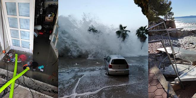 VATROGASCI OBJAVILI FOTOGRAFIJE 'Šteta u Podgori je milijunska, treba proglasiti elementarnu nepogodu'