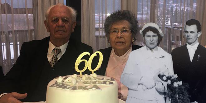 DIJAMANTNI PIR Marija i Ante Bjeliš proslavili su 60 godina braka, nikada nisu dozvolili da ih išta razdvoji