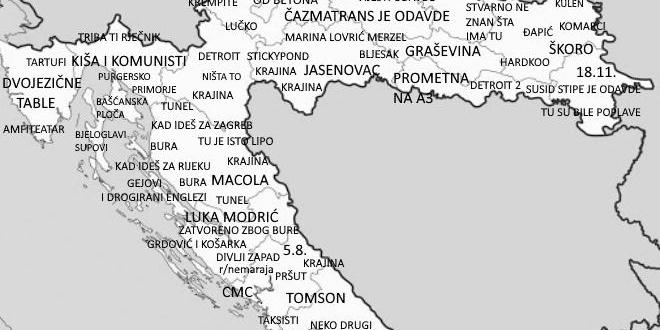 Dalmatinac napravio posebnu kartu Hrvatske koja je postala hit na internetu