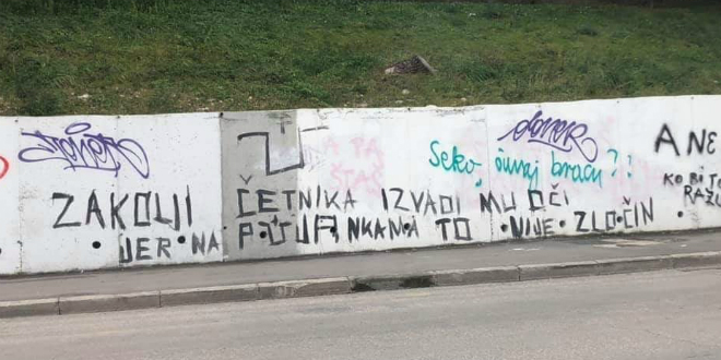 NASTAVLJA SE GOVOR MRŽNJE Novi grafit na splitskim ulicama
