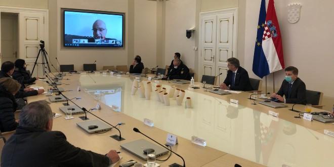 Predsjednik Vlade s hrvatskim znanstvenicima o borbi protiv koronavirusa