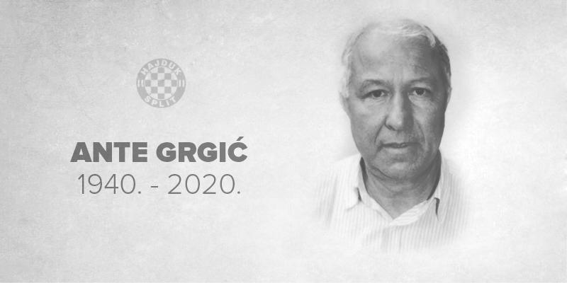 Preminuo Ante Grgić