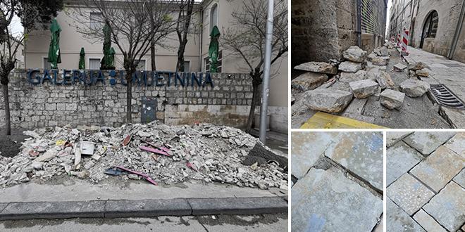 ZID PRED GALERIJOM ZATRPAN ŠUTOM Kopa se u Bosanskoj, od Uskrsa normalan napon u gradskog jezgri