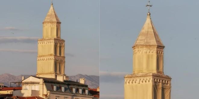Nakon dvije godine radova ponovno otvoren zvonik splitske prvostolnice