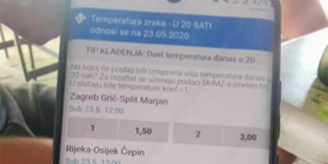 NEVJEROJATNO: Kladionica u ponudu uvrstila temperature u hrvatskim gradovima!