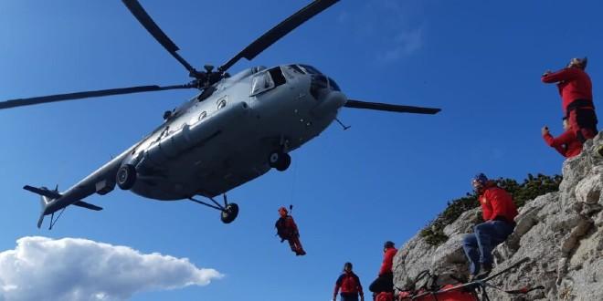 HGSS spašavao planinarku sa slomljenim gležnjem na Velebitu