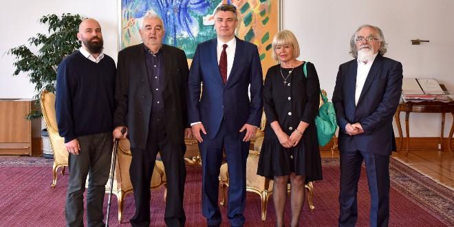 Milanović primio izaslanstvo Hrvatskog helsinškog odbora