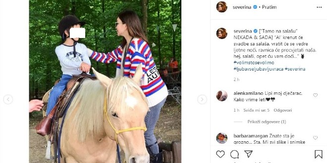Zbog objava sina na Instagramu sud kažnjava Severinu desecima tisuća kuna